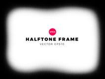 Halftone dots background, grunge frame, vector illustration. Halftone dots background,grunge frame, overlay pattern, vector illustration vector illustration