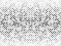 Halftone dots, black and grey on a white background.  Halftone background  for your design. Royalty Free Stock Images