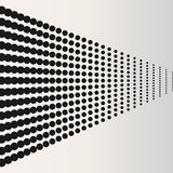 Halftone dots. Black horizontaly located dots vector illustration