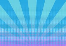 Halftone dots with blue stripes abstract background vector illustration