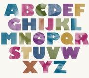 Halftone dots bold font. Stock Image