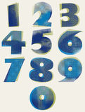 Halftone dots bold numbers. Stock Photo