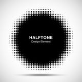 Halftone Dots Circle Frame Abstract Logo-Ontwerpelement Bloem halftone textuur Halftone embleem Vector illustratie Stock Foto
