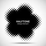 Halftone Dots Circle Frame Abstract Logo-Ontwerpelement Bloem halftone textuur Halftone embleem Vector illustratie Stock Afbeelding