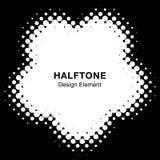 Halftone Dots Circle Frame Abstract Logo-Ontwerpelement Bloempictogram die halftone cirkeltextuur gebruiken Vector illustratie Royalty-vrije Illustratie