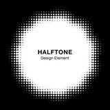 Halftone Dots Circle Frame Abstract Logo-Ontwerpelement Bloempictogram die halftone cirkeltextuur gebruiken Vector illustratie Stock Illustratie