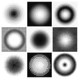 Halftone dots circles Royalty Free Stock Images