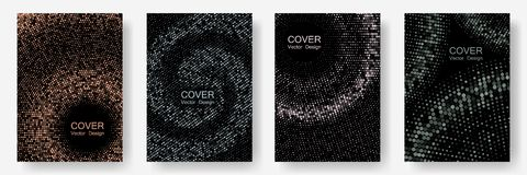 Halftone dots cover page layouts vector design. vector illustration