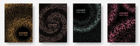 Halftone dots cover page layouts vector design. stock image