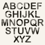 Halftone dots font, black. Stock Image