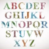 Halftone dots font. Stock Image