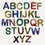 Halftone dots font. Royalty Free Stock Photo