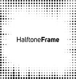 Halftone dots frame. Black and white square frame Royalty Free Stock Images