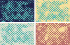 Halftone dots on grunge background.  Halftone background  for your design. Stock Images