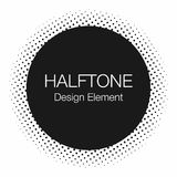 Halftone dots. Monochrome, abstract background in Pop Art style vector illustration