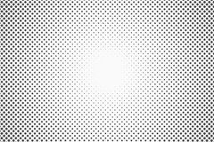 Halftone dots. Monochrome vector texture background for prepress, DTP, comics, poster. Pop art style template Stock Photo