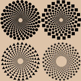 Halftone dots pattern set in vector format Royalty Free Stock Photography