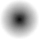 Halftone dots radial background black and white Stock Image