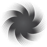 Halftone dots star background. Black and gray halftone dots star background illustration Royalty Free Stock Photos