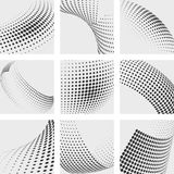 Halftone dots vector abstract backgrounds set Stock Photography