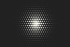 Vector monochrome circles halftone background. Halftone dots. Vector black and white circles halftone background. Geometric vintage monochrome fade wallpaper Stock Photos