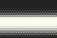 Vector monochrome circles halftone background. Halftone dots. Vector black and white circles halftone background. Geometric vintage monochrome fade wallpaper Royalty Free Stock Images