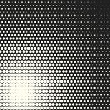 Vector monochrome circles halftone background. Halftone dots. Vector black and white circles halftone background. Geometric vintage monochrome fade wallpaper Royalty Free Illustration