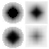 Halftone dots on white background. Stock Image