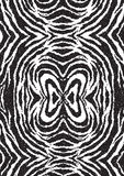 Halftone dots zebra texture. Animal background. Vector illustration. EPS. 10 Stock Image