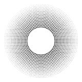 Halftone dotted background circularly distributed. Halftone effe Royalty Free Stock Image