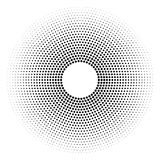 Halftone dotted background circularly distributed. Halftone effe Stock Image
