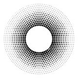 Halftone dotted background circularly distributed. Halftone effe Stock Photo