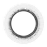 Halftone dotted background circularly distributed. Halftone effe Stock Photography