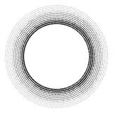 Halftone dotted background circularly distributed. Halftone effe Royalty Free Stock Photos