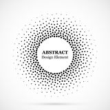 Halftone dotted background circularly distributed. Halftone effect vector pattern. Circle dots isolated on the white background. stock illustration