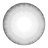 Halftone dotted background circularly distributed. Halftone effe Royalty Free Stock Images