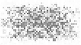 Halftone dotted background. Halftone effect vector pattern. Circ. Le dots isolated on the white background vector illustration