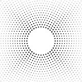 Halftone dotted background. Halftone effect vector pattern. Circle dots isolated on the white background. Halftone dotted background circularly distributed royalty free illustration