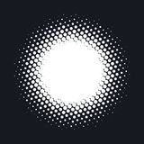 Halftone dotted vector abstract background, dot pattern in circle shape. stock illustration