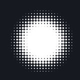 Halftone dotted vector abstract background, dot pattern in circle shape. vector illustration