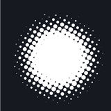 Halftone dotted vector abstract background, dot pattern in circle shape.   Stock Images