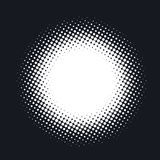 Halftone dotted vector abstract background, dot pattern in circle shape.   Stock Photos