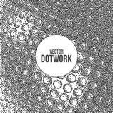Halftone Dotwork Engraving Metal Background Stock Image