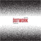 Halftone Dotwork Style Monochrome Gradient Vector Background Stock Image