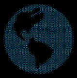 Earth Mosaic Icon of Halftone Circles royalty free illustration