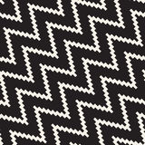 Halftone Edgy Lines Mosaic Endless Stylish Texture. Vector Seamless Black and White Pattern Stock Images