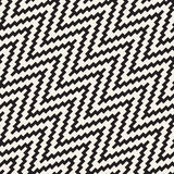 Halftone Edgy Lines Mosaic Endless Stylish Texture. Vector Seamless Black and White Pattern Stock Photo