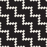Halftone Edgy Lines Mosaic Endless Stylish Texture. Vector Seamless Black and White Pattern Royalty Free Stock Images