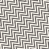 Halftone Edgy Lines Mosaic Endless Stylish Texture. Vector Seamless Black and White Pattern Royalty Free Stock Image