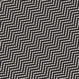 Halftone Edgy Lines Mosaic Endless Stylish Texture. Vector Seamless Black and White Pattern Stock Photography